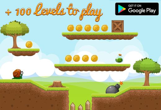 Snail running bob adventure 2 apk screenshot