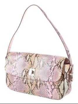 snakeskin purse for women screenshot 5