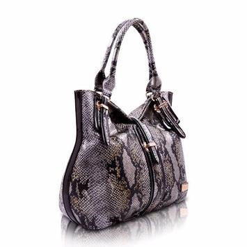 snakeskin purse for women screenshot 12