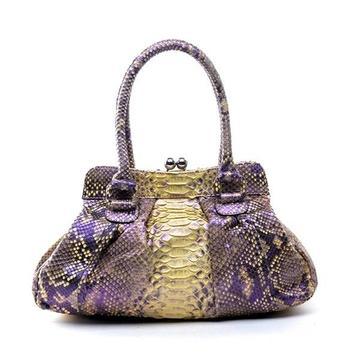 snakeskin purse for women screenshot 3