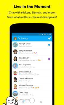 Snapchat captura de pantalla de la apk