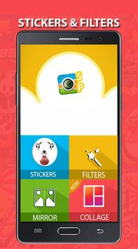 Snap photo stickers & filters poster