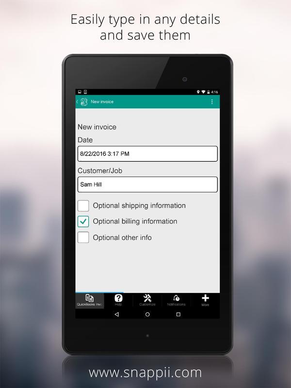 QuickBooks Invoicing App APK تحميل مجاني أعمال تطبيق لأندرويد - Quickbooks invoice app