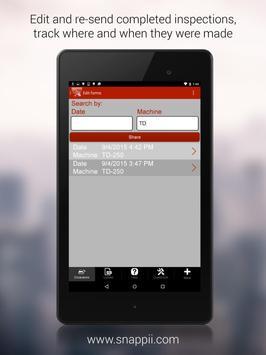 Excavator Inspection App apk screenshot