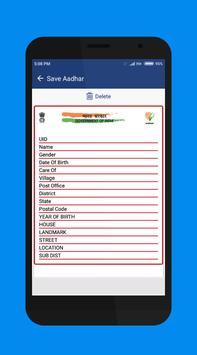 Aadhar scanner apk screenshot
