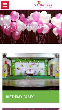 SN Balloon Decorations poster