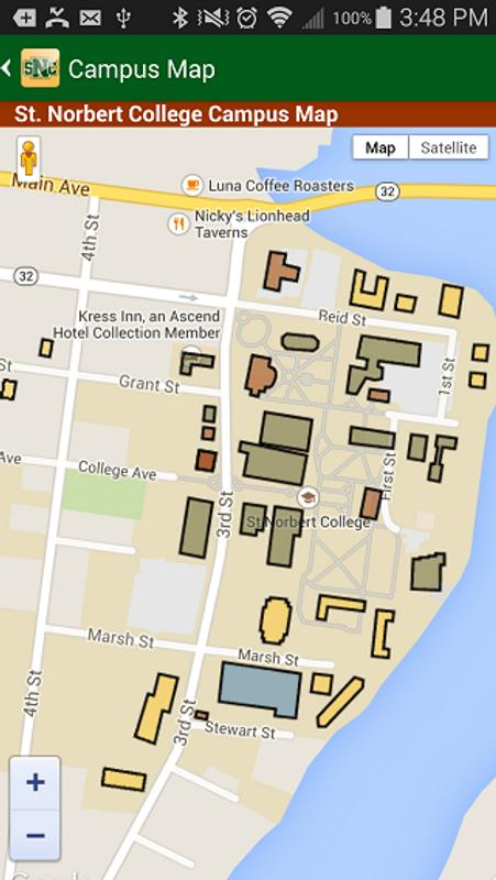 St Norbert Campus Map.St Norbert College For Android Apk Download