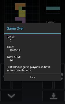 Blockinger - Tetris game screenshot 1