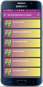 Ha Ash Musicas y Letras apk screenshot