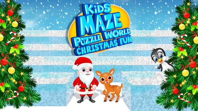 Kids Maze : Educational Puzzle Christmas poster