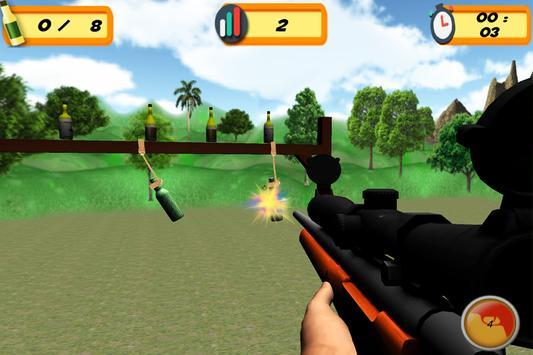 Sniper 3D Bottle Shoot screenshot 4