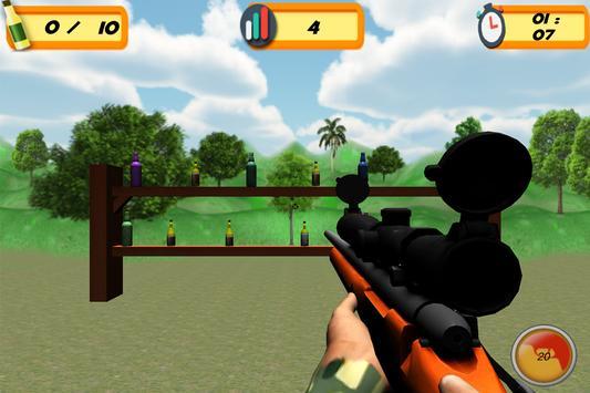 Sniper 3D Bottle Shoot screenshot 8