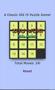 Classic 15 Puzzle Game screenshot 2