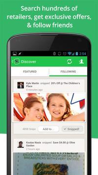 SnipSnap Coupon App apk screenshot