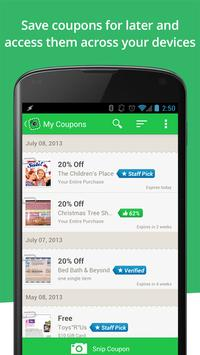 SnipSnap Coupon App apk screenshot