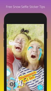 Free Snow Selfie Sticker Tips poster