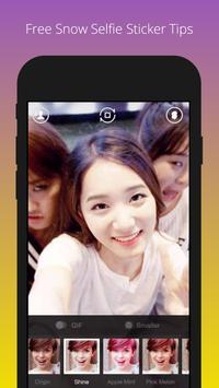 Free Snow Selfie Sticker Tips apk screenshot