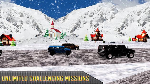 Snow Jeep Drifting Rally screenshot 13