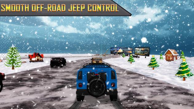 Snow Jeep Drifting Rally screenshot 7