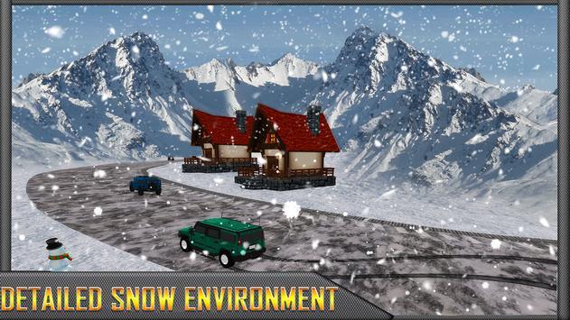 Snow Jeep Drifting Rally screenshot 4