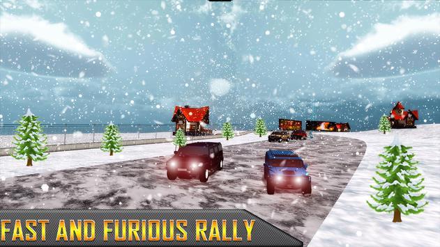 Snow Jeep Drifting Rally screenshot 8