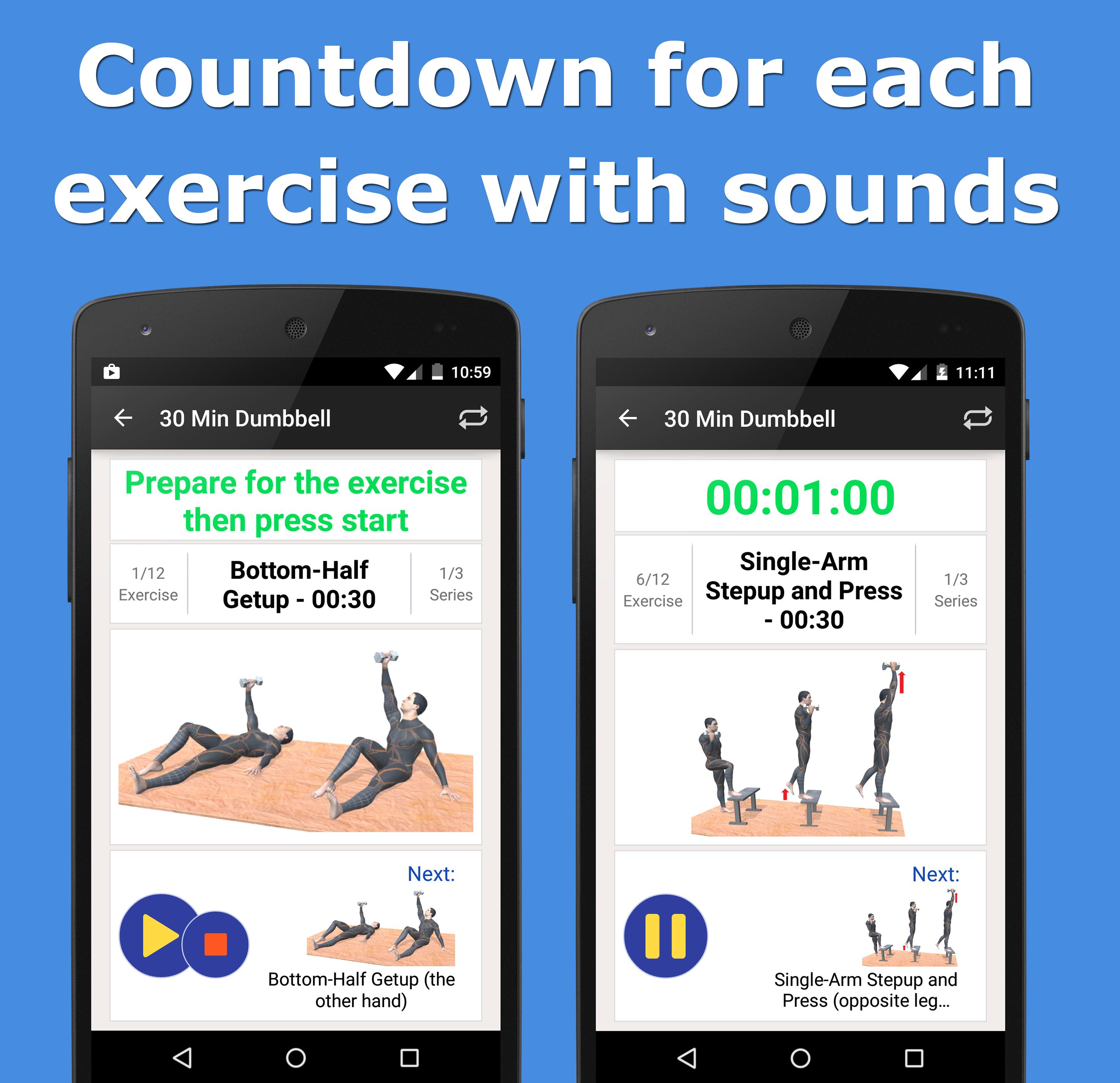 30 Minute Dumbbell Workout for Android - APK Download