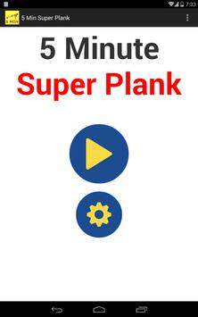 5 Minute Super Plank Workout poster