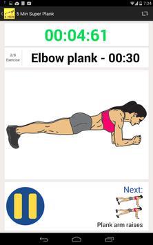 5 Minute Super Plank Workout screenshot 2
