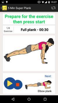 5 Minute Super Plank Workout screenshot 9