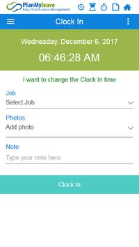 Employee Time Tracking with Geofencing screenshot 3