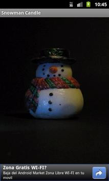 SnowMan Candle poster