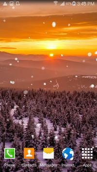 Snow Sunset Live Wallpaper screenshot 4