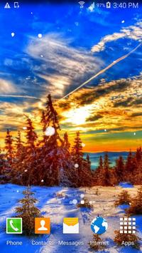 Snow Sunset Live Wallpaper poster