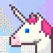 Coloring Unicorn Book Sandbox Color By Number Page icon