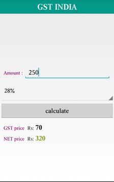 GST India calculator screenshot 3