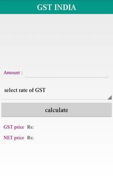 GST India calculator poster