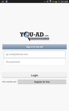 Ads online; You-AD.com screenshot 1