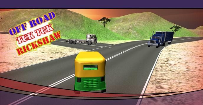 Off Road 3D Tuk Tuk Rickshaw apk screenshot
