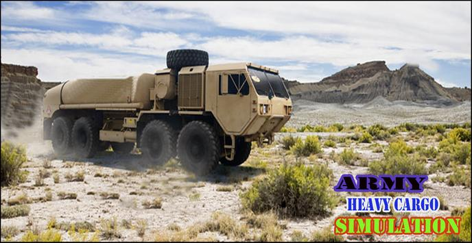 US Army Heavy Cargo Truck poster