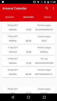 Arsenal Calendario.Arsenal Calendario For Android Apk Download