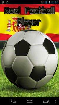 Real Football Player Spain poster