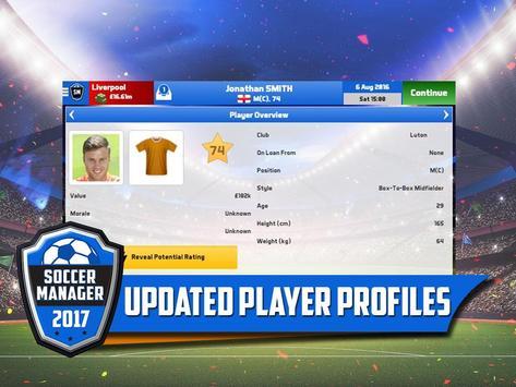 Soccer Manager 2017 स्क्रीनशॉट 1