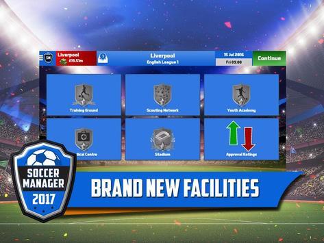 Soccer Manager 2017 स्क्रीनशॉट 2