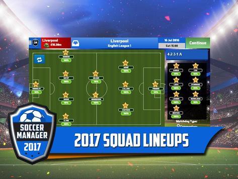Soccer Manager 2017 स्क्रीनशॉट 5