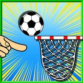Free kick basket icon