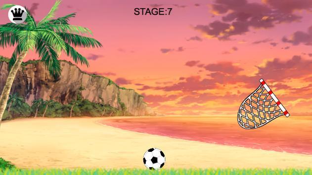 Free kick basket apk screenshot