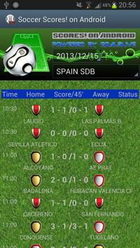 SoccerScores!OnAndroid poster