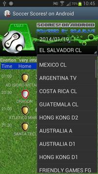 SoccerScores!OnAndroid screenshot 1