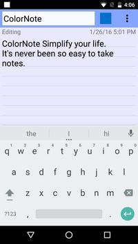 ColorNote Bloc de notas Notas captura de pantalla de la apk