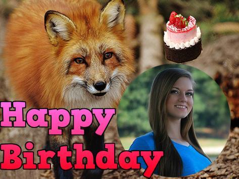 Happy Birthday Animal Frames poster